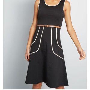 ModCloth Outline of Work Midi Dress Sunny Girl